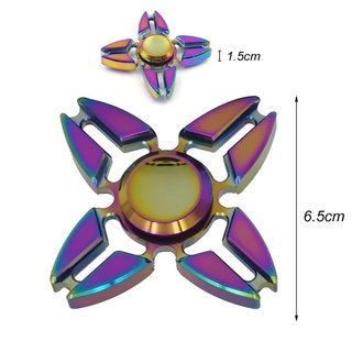 Colorful Colorful Quadri-Spinner Reducing Stress Anxiety Enhancing Finger Flexibility