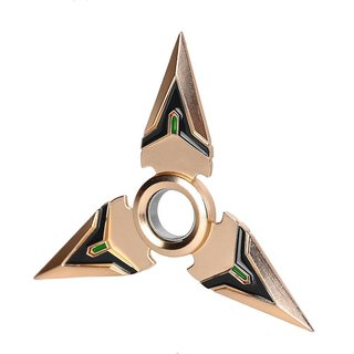 Gold Game Weapons Darts Rotated Alloy Bearing Toy Hand Spinner Toy Gift Kids Adult