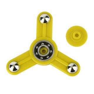 Yellow Tri-Spinner Toy Plastic Hand Spinner Finger Spinner Toys For Adults Kids