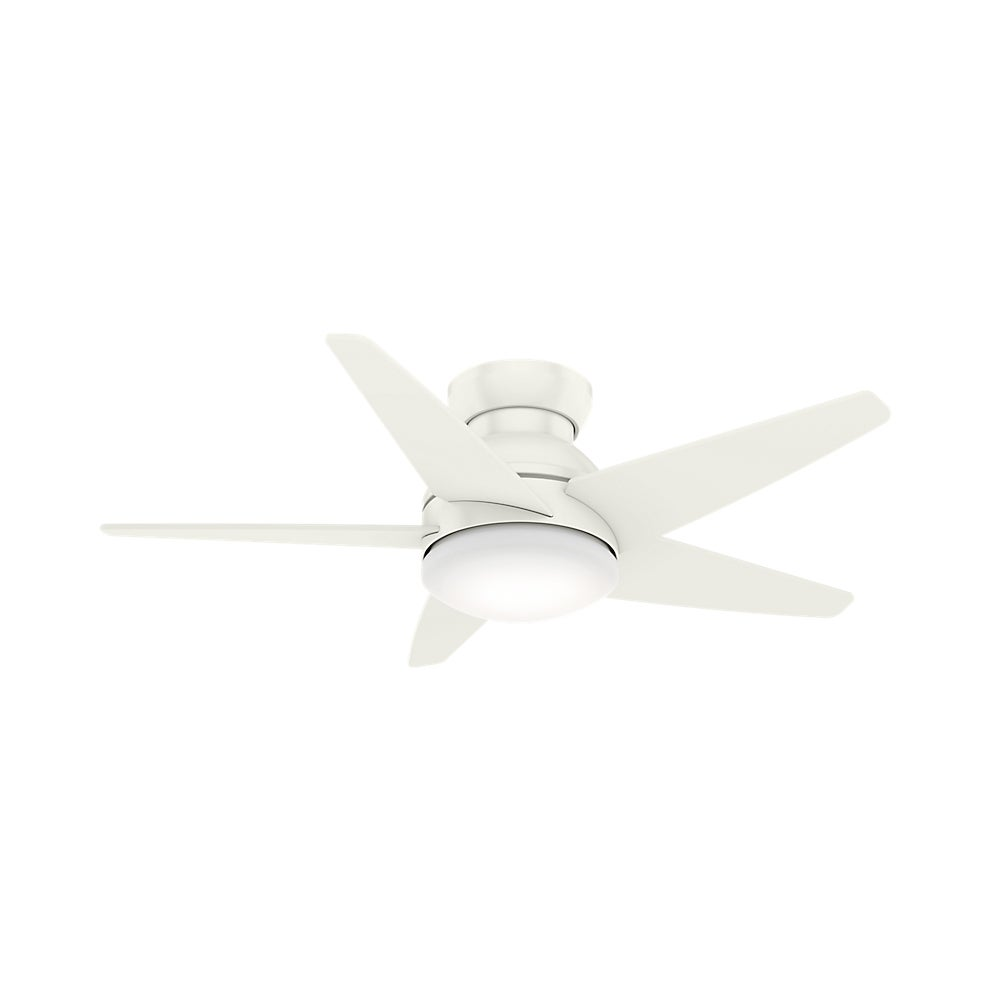 Casablanca Fan 52 Isotope Fresh White w/5 Fresh White Veneer Blades (Low profile with cased white glass & wall control)