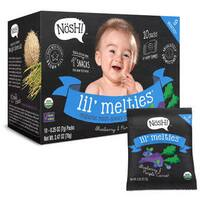 Nosh Lil Melties Rice Puffs 2.47-ounce Blueberry Purple Carrot 10 Count