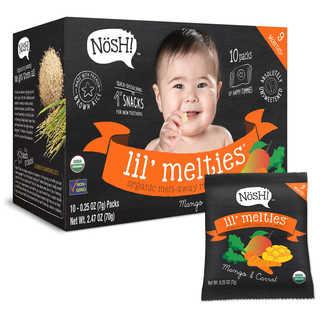 Nosh Lil Melties Rice Puffs 2.47-ounce Mango Carrot 10 Count