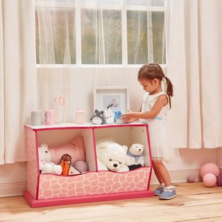 Teamson Kids - Fashion Prints Giraffe 2-Bin Cubby Storage