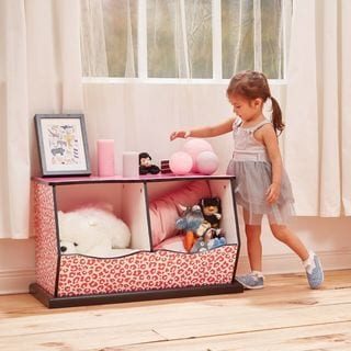 Teamson Kids - Fashion Prints Leopard 2-Bin Cubby Storage
