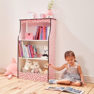 Teamson Kids - Fashion Prints Leopard 2-Shelf Bookshelf