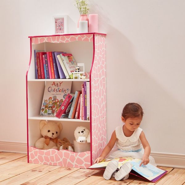 Teamson Kids - Fashion Prints Giraffe 2-Shelf Bookshelf