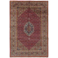 ECarpetGallery Hand-Knotted Bijar Red  Wool Rug (6'7 x 9'10)