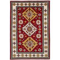 ECarpetGallery Hand-Knotted Royal Kazak Red  Wool Rug (6'5 x 9'0)
