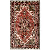 ECarpetGallery Hand-Knotted Royal Heriz Red  Wool Rug (4'10 x 7'11)