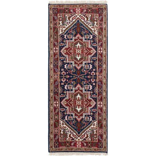 ECarpetGallery Hand-Knotted Royal Heriz Blue Wool Rug (2'8 x 6'9)