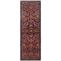 ECarpetGallery Hand-Knotted Persian Vintage Blue  Wool Rug (3'4 x 9'8)