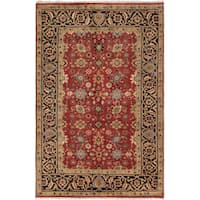 ECarpetGallery Hand-Knotted Serapi Heritage Red  Wool Rug (6'1 x 9'2)