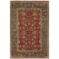 ECarpetGallery Hand-Knotted Serapi Heritage Red  Wool Rug (6'2 x 9'2)