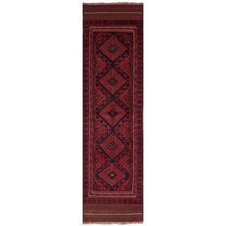 ECarpetGallery Hand-Knotted Tajik Caucasian Red Wool Rug (2'0 x 7'11)