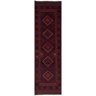 ECarpetGallery Hand-Knotted Tajik Caucasian Red  Wool Rug (2'0 x 8'1)