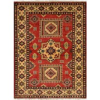 ECarpetGallery Hand-Knotted Finest Gazni Red  Wool Rug (3'3 x 4'7)