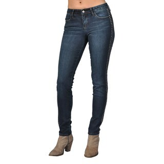 Tractr Fashion Indigo Jeans with Stud Side Detail