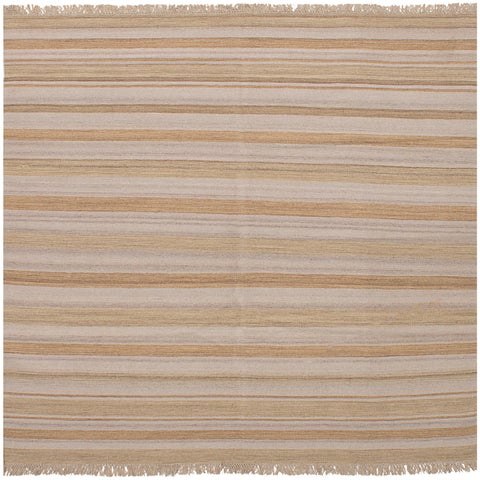 ECarpetGallery Flatweave Ankara Kilim Ivory Wool Kilim Rug - 6'9 x 6'7