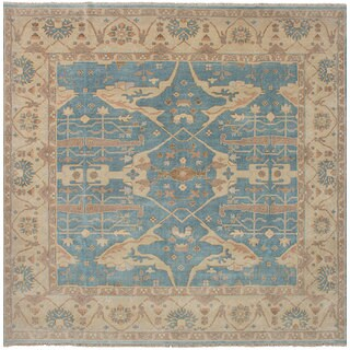 ECarpetGallery Hand-Knotted Royal Ushak Green Wool Rug (10'10 x 10'10)