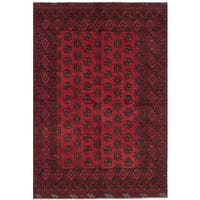 ECarpetGallery Hand-Knotted Khal Mohammadi Red  Wool Rug (5'2 x 7'9)