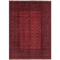 ECarpetGallery Hand-Knotted Khal Mohammadi Red  Wool Rug (7'0 x 9'6)