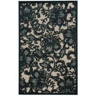 Nourison Graphic Illusions Pewter Rug (2'3 x 3'9)