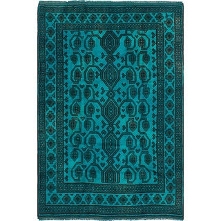 ECarpetGallery Hand-Knotted Color Transition Blue, Multi  Wool Rug (5'2 x 7'9)