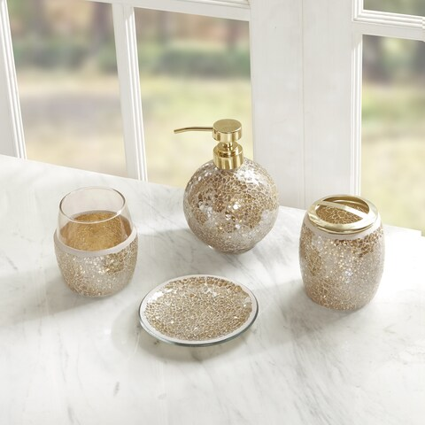 Madison Park Mosaic 4 Piece Bath Accessory Set - 2 Color Option