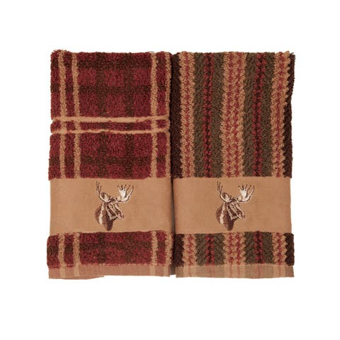 Hiend Accents Embroidered Moose 3-Piece Towel Set