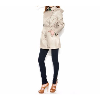 Michael Kors Large Khaki Hooded Trench Coat
