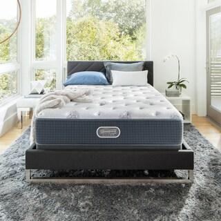 Simmons Beautyrest Silver Maddyn Plush 12-inch Twin XL-size Mattress Set