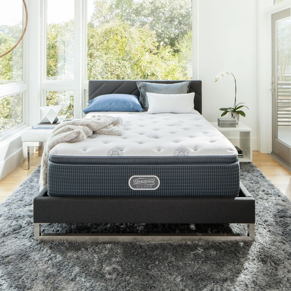 shop beautyrest silver maddyn pillow top luxury 14 inch full size firm mattress on sale free. Black Bedroom Furniture Sets. Home Design Ideas