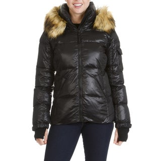 S13 New York Women's Faux Fur Trim Quilted Jacket