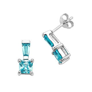 Sterling Silver and Cubic Zirconia Earring