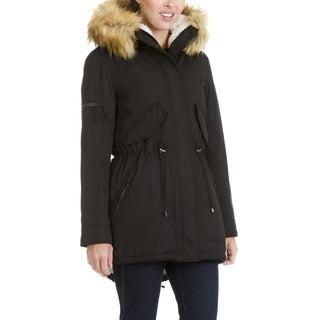 S13 New York Women's Faux Fur Trim Hooded Anorak