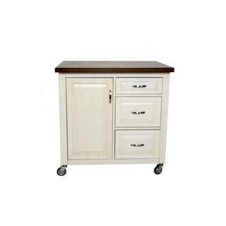 2.25 ft X 3 ft Kitchen Cart in 2 Finishes by Sunset Trading (Option: Beige)