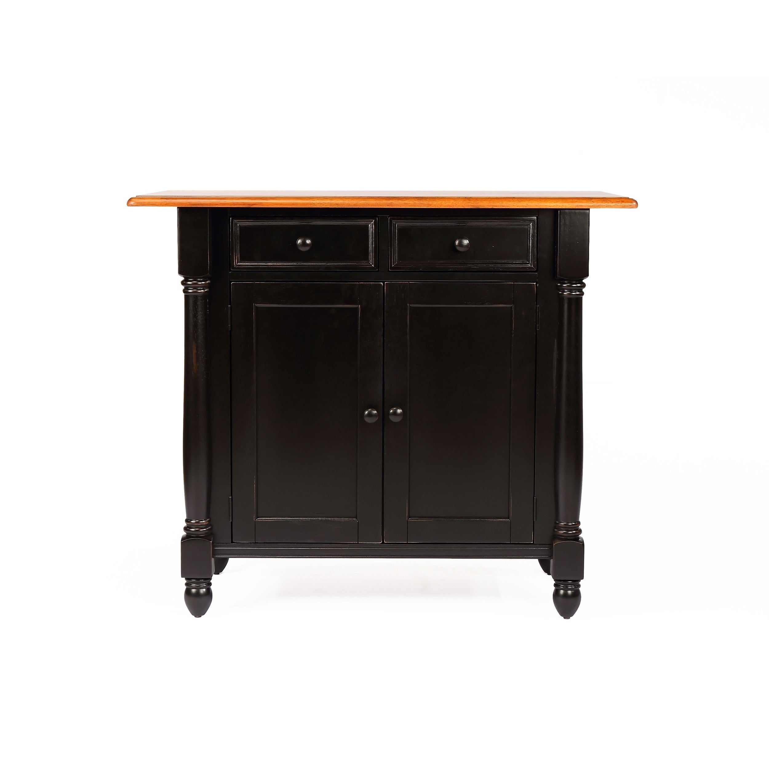 Sunset Trading Kitchen Island with Drop Leaf Top