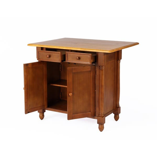 Shop Sunset Trading Kitchen Island with Drop Leaf Top - On ...