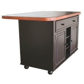 Gracewood Hollow Golden Adjustable Top Kitchen Island in 3 Finishes