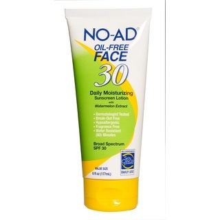NO-AD Oil-Free Face 6-ounce Sunscreen Lotion SPF 30
