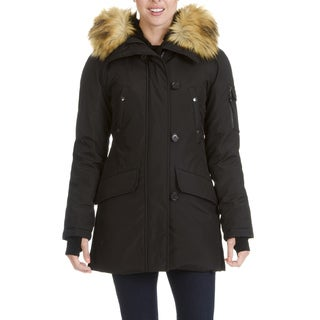 S13 New York  Women's Faux Fur Trim Hooded Parka