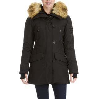 S13 New York Women's Faux Fur Trim Hooded Parka|https://ak1.ostkcdn.com/images/products/17002874/P23284575.jpg?impolicy=medium
