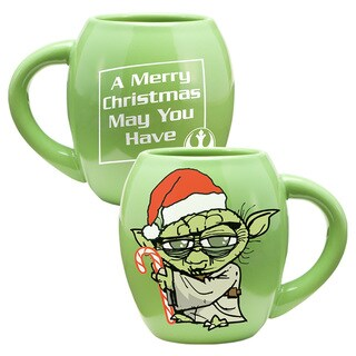 Star Wars 18oz Oval Ceramic Mug - Holiday Yoda