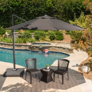 Link to Outdoor Puebla 9.8-foot Canopy Umbrella with Base by Christopher Knight Home Similar Items in Patio Umbrellas & Shades