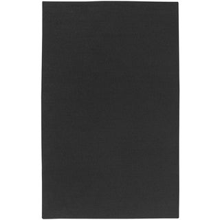 Handmade Twist Black Wool Solid Area Rug (5' x 8')