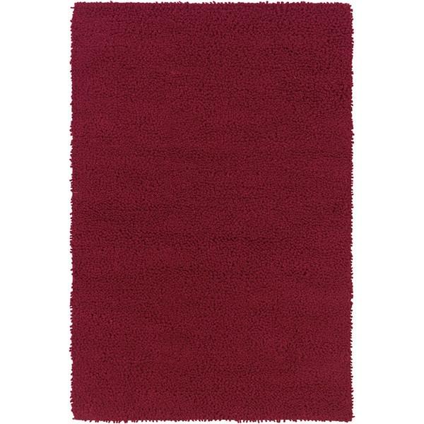 Splendor Red Wool Handmade Flatweave Solid Area Rug (8' x 10') - 8' x10'