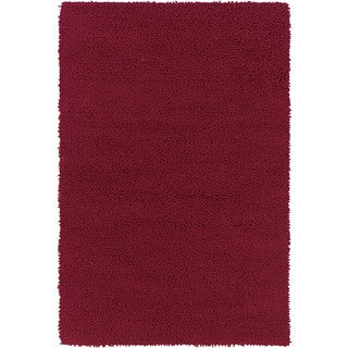 Splendor Red Wool Handmade Flatweave Solid Area Rug (8' x 10')
