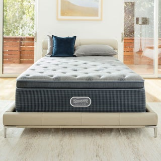 Simmons Beautyrest Silver Discovery Bay Plush Pillow-top 15.5-inch Queen-size Mattress Set