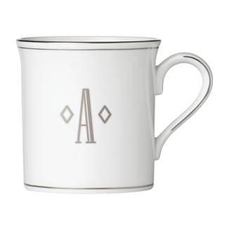 Lenox Federal Platinum Block Monogram Mug