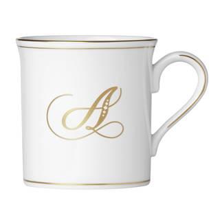 Lenox Federal Gold Script Monogram Mug